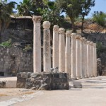 Ruins of the synagogue in Capernaum where Jesus read the scriptures to the Jews.