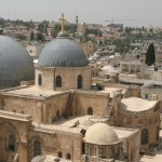 Church of the Holy Sepulchre with the possible sites of the Crucifixion and Burial of Jesus.