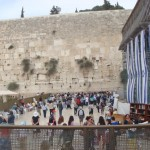 The Wailing Wall. This is what remains of the original Temple Mount. The Dome of the Rock is on the top out of view.