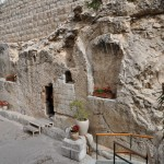 The tomb where the body of Jesus was buried.