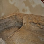 Place inside the tomb where the body of Jesus was laid.