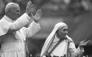 MOTHER TERESA-POPE JOHN PAUL II